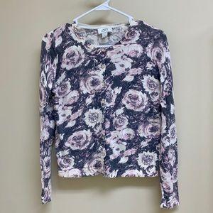 Ann Taylor LOFT floral cardigan